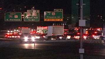A deadly crash on Interstate 295 southbound in Portland backed up traffic for hours Tuesday night.