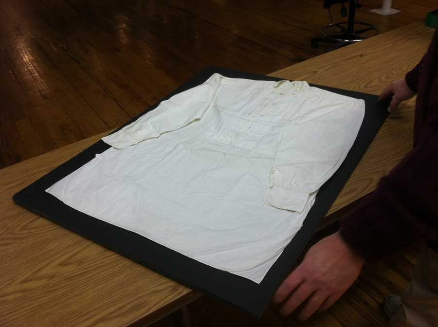 The Saco River Auction Co. is also auctioning off a white dress shirt worn by General George Custer.