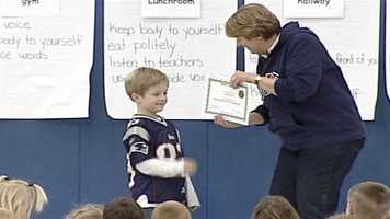 On Friday others at Ayden's school showed their appreciation for his hard work.