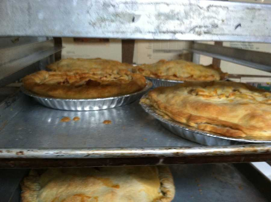 The pies will be distributed to members of the community in need.