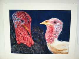 Some of Miller's work is on display at the Harlow Gallery in Hallowell.