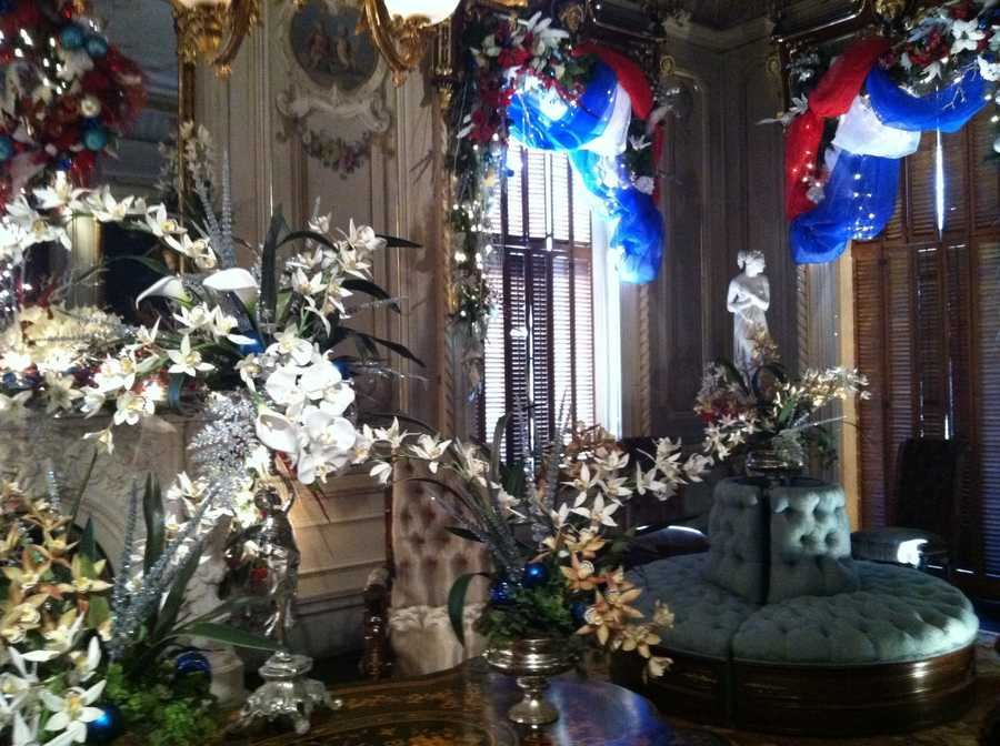 Decorations at Christmas at Victoria Mansion evoke a by-gone time in Portland.