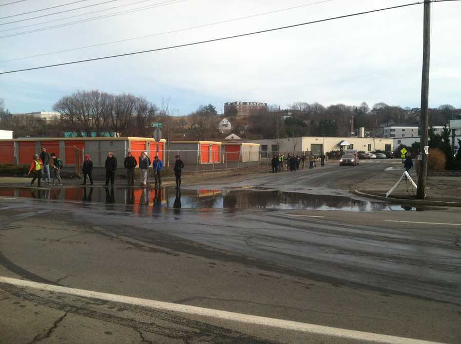 """Wednesday's """"king tide"""" provided a lesson on climate change to students att he University of Southern Maine."""