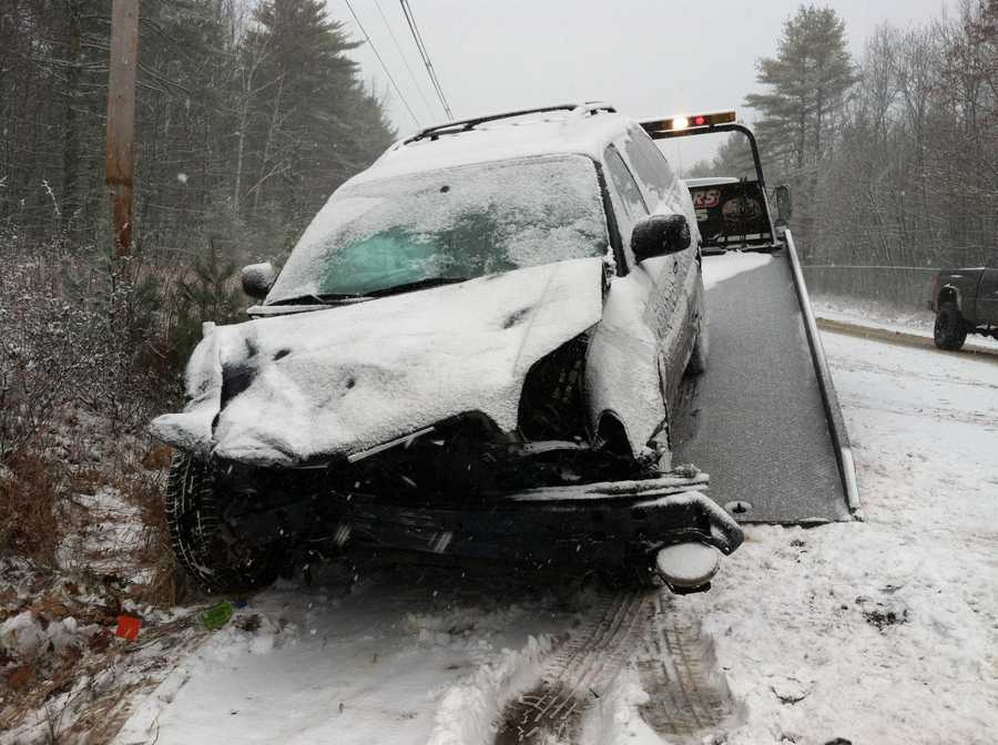 No one was seriously hurt in a head-on crash on Route 35 in Standish on Monday.