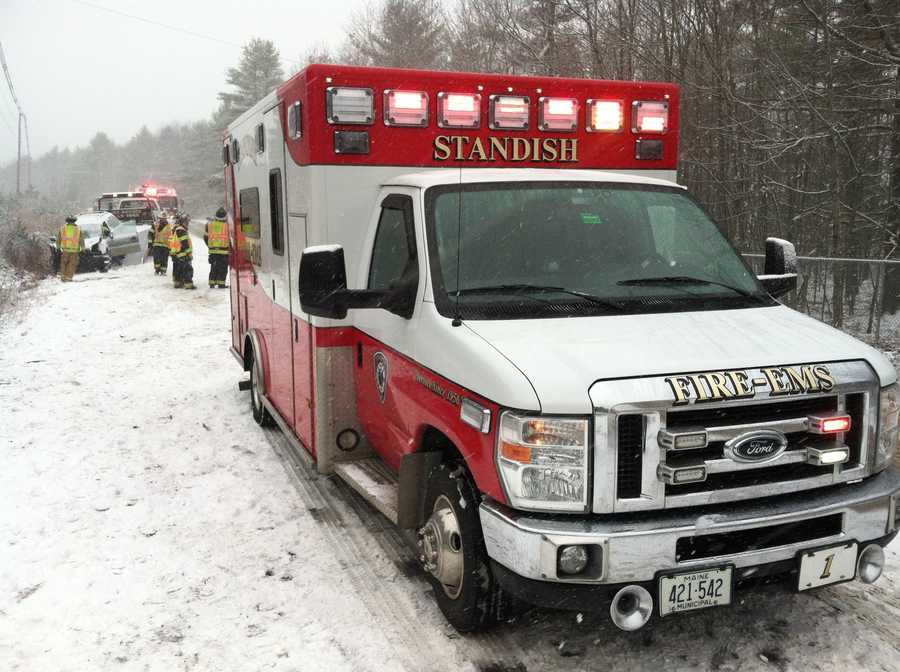 The crash tied up traffic in Standish until crews could clean up the mess.
