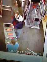 Police hope these surveillance pictures will help them track down the shoplifter.