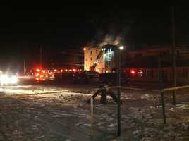 Crews battle a three-alarm fire and the cold early Friday morning in Lewiston. Click through for photos from the scene.