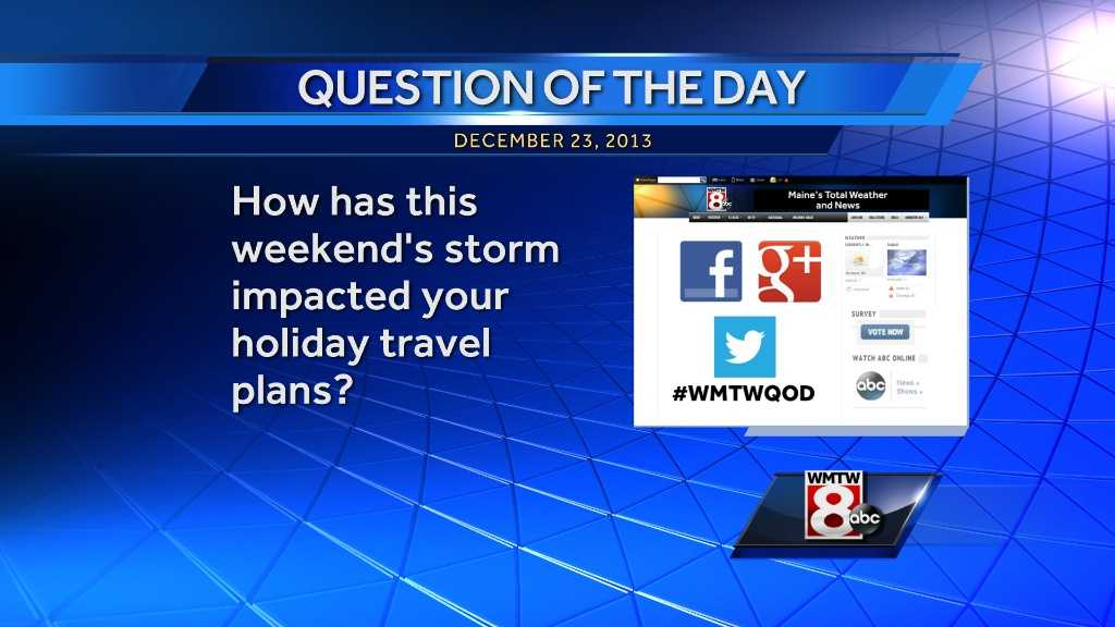 How was this weekend's storm impacted your holiday travel plans