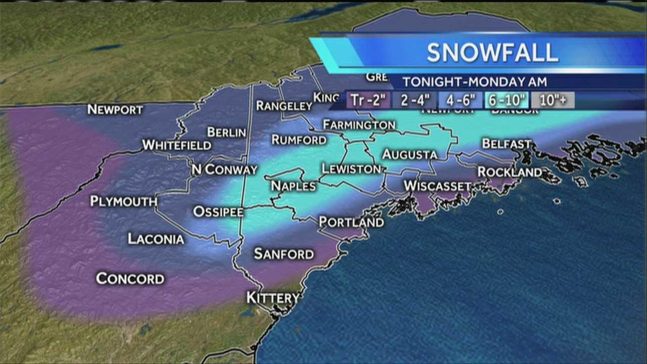 Sunday Snowfall Map