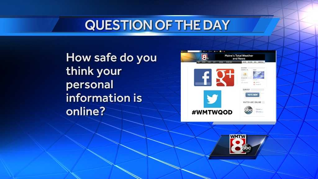 How safe do you think your personal information is online?
