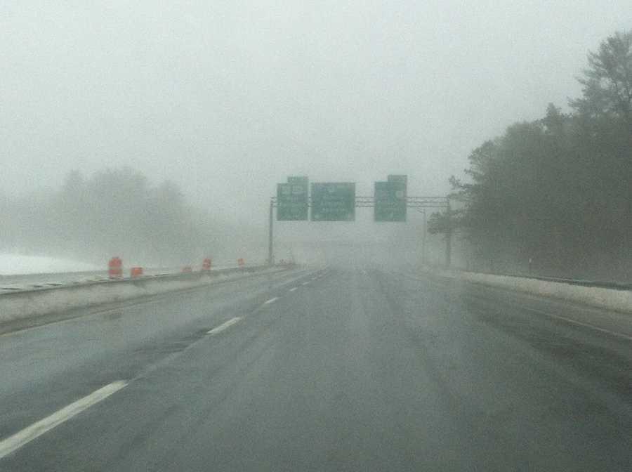 Foggy Maine Turnpike near Exit 52