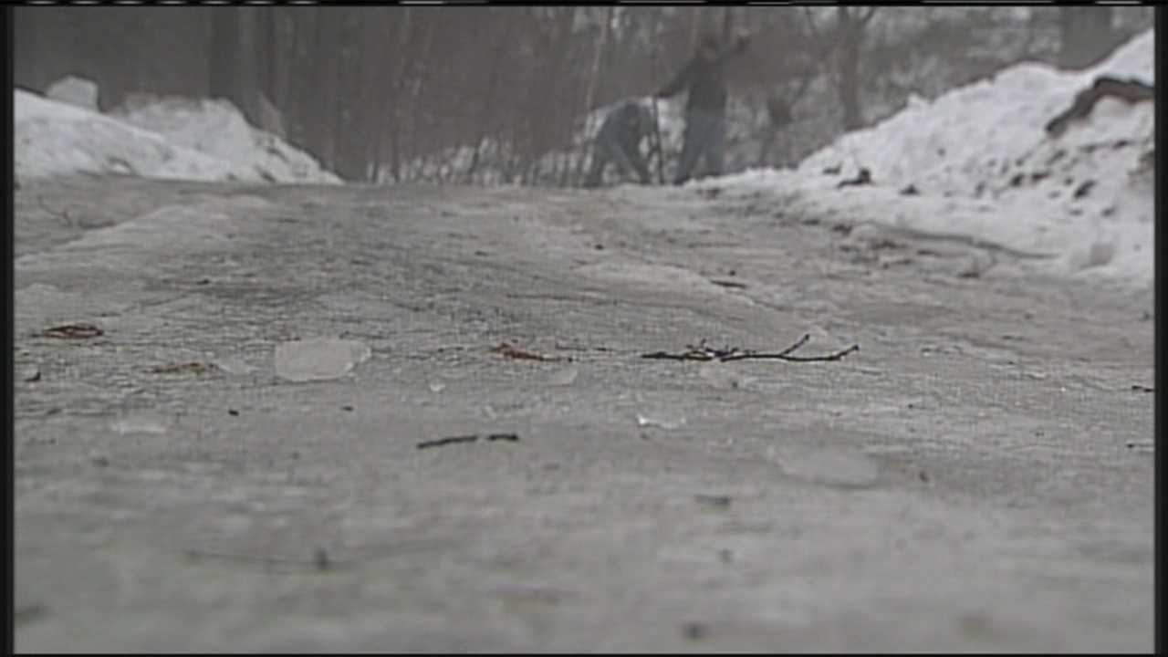 Augusta icy road