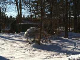 Police said a man's body was found inside a home on Hogan Pond Road