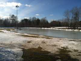 In Scarborough, due to melting ice, the rink isn't safe to skate on. The town has postponed Winterfest until Jan 25.