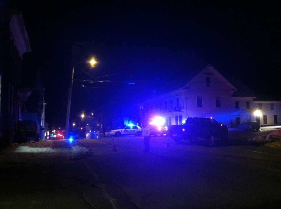 A University of Southern Maine student was arrested late Wednesday following a standoff at his fraternity house. Click through for more pictures from the scene.