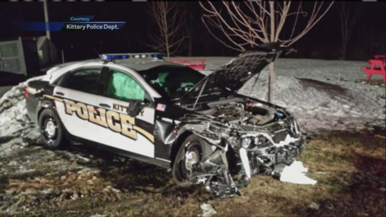 Kittery police cruiser crash