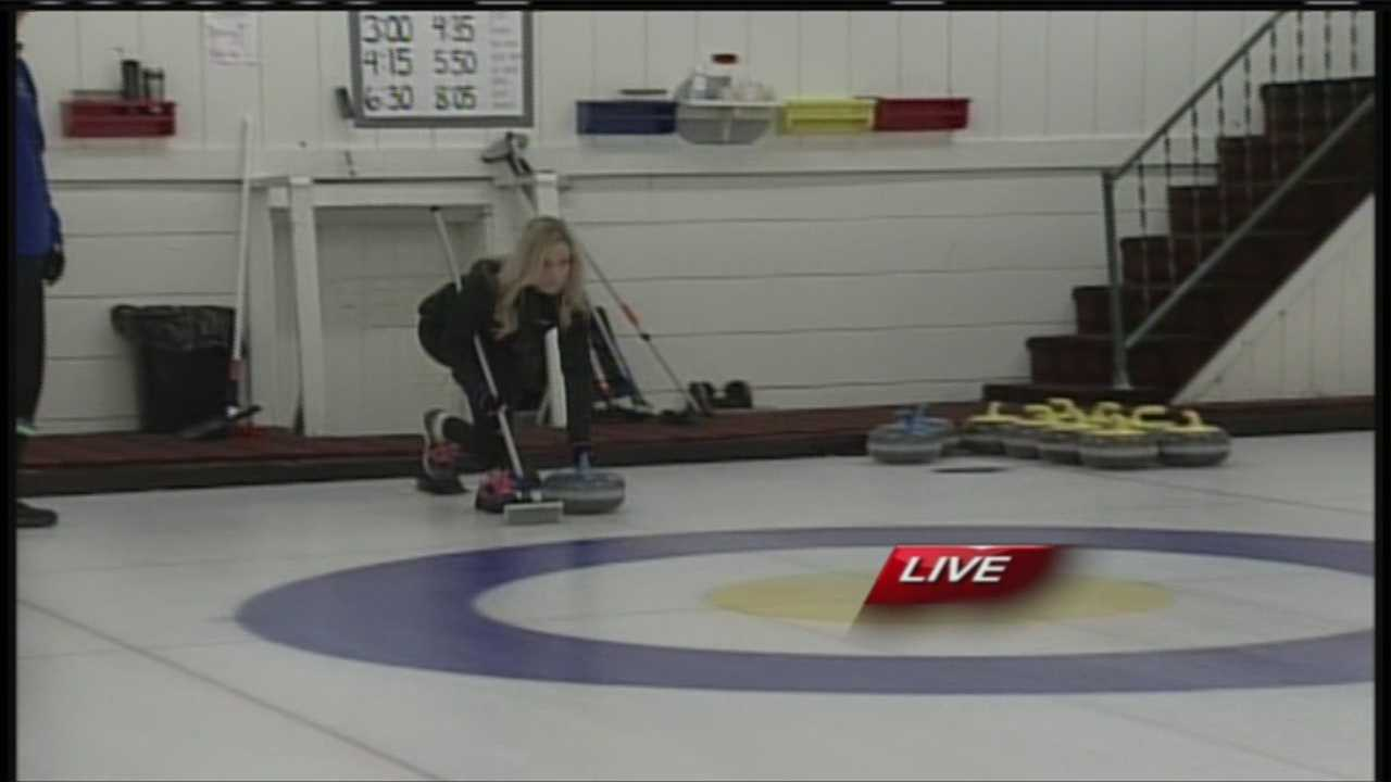 Brooms, granite stones and pebbled sheets of ice. You put them together and you have the sport of curling. Not only that, but you can participate, right here in Maine.  WMTW News 8's Katie Thompson has more from the Belfast Curling Club in Belfast