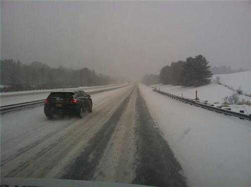 Conditions on Maine Turnpike Thursday afternoon