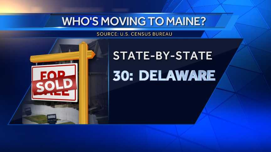 196 people moved to Maine from Delaware