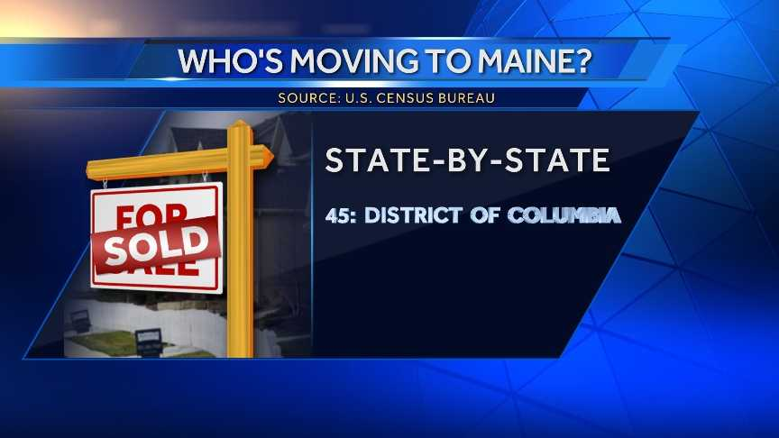 38 people moved to Maine from the District of Columbia