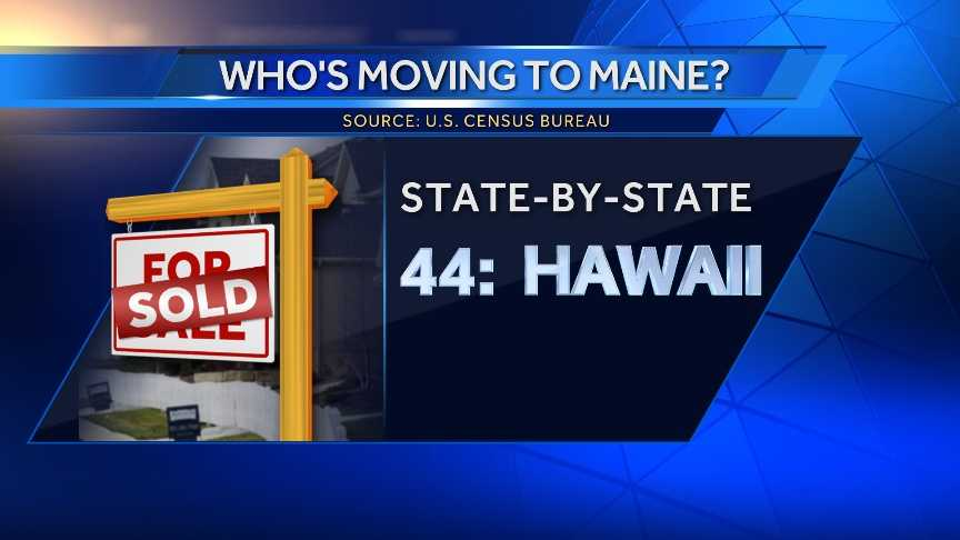 64 people moved to Maine from Hawaii