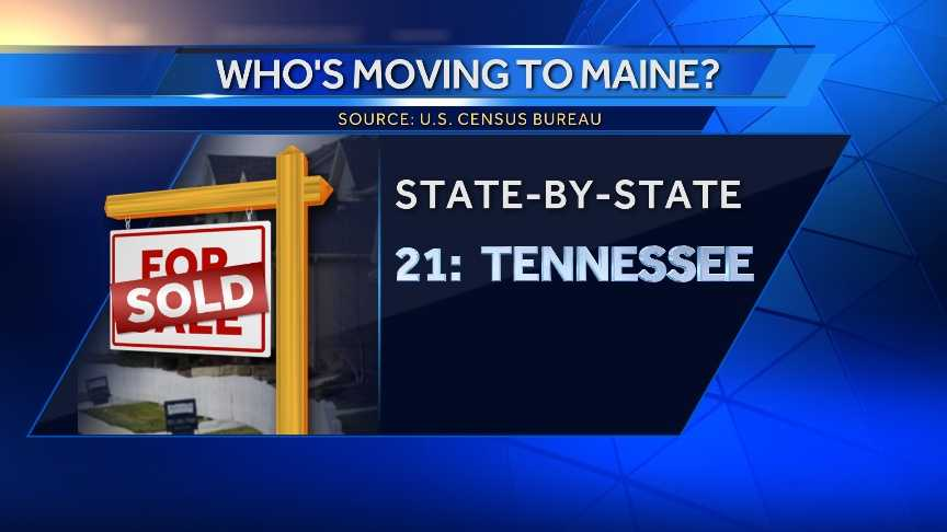 298 people moved to Maine from Tennessee