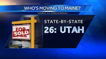 234 people moved to Maine from Utah