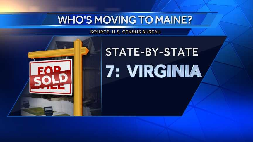 934 people moved to Maine from Virginia