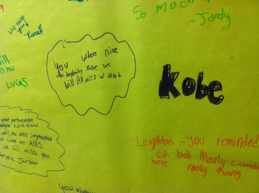 Principal Jim Hand said students describe Kobe as well-loved, always smiling and a great dancer.
