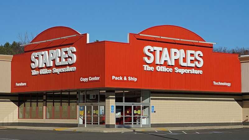 Staples is based in Framingham, Mass.