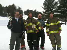 The Harrison Fire Department took home 1st place in the 11th annual Mary's Firemen for a Cure ski race at Shawnee Peak in Bridgton, Saturday Mar. 1 2014.