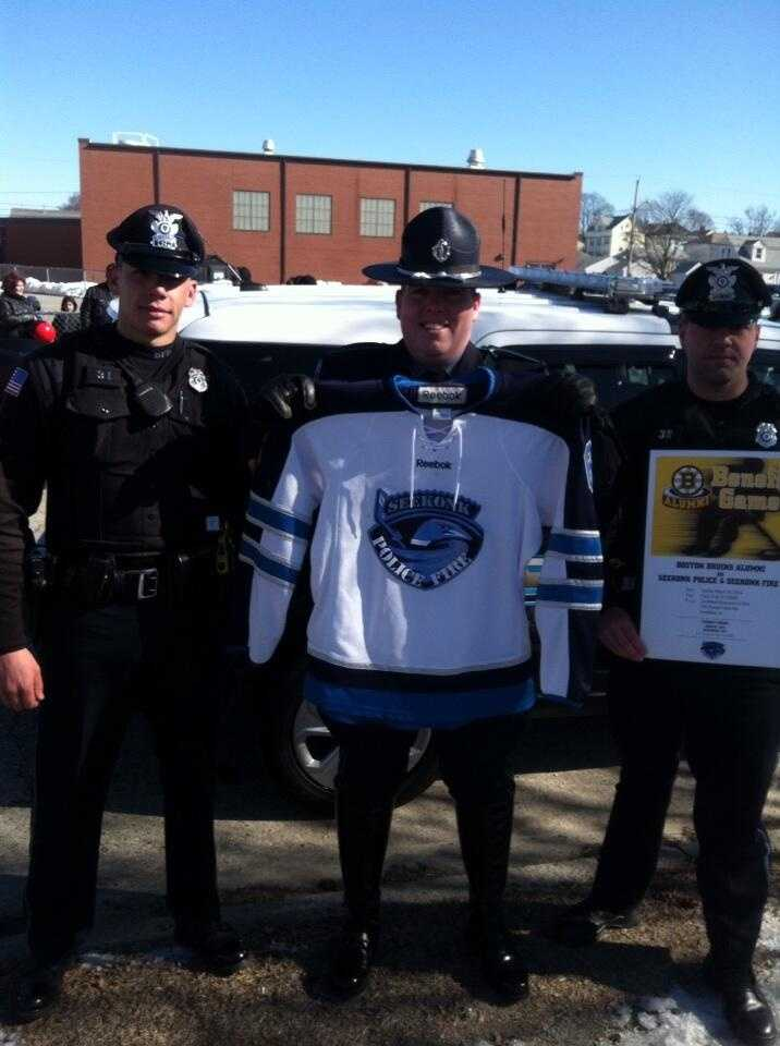 Tyler is going to be the captain for the Seekonk Police Department's hockey game against the Bruins on March 30.
