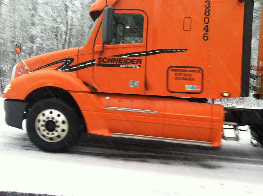 Truck stuck on Route 4 in Turner