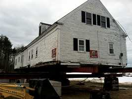 The Arundel Historical Society helped move the home onto the new foundation Wednesday afternoon.