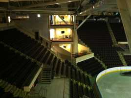 The Civic Center's new luxury boxes were installed as part of the multi-million dollar renovation.