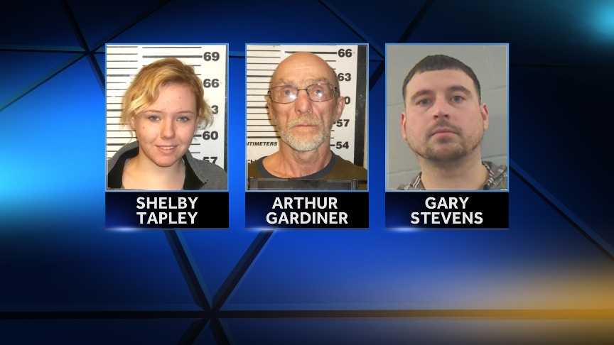 Shelby Tapley is charged with with Unlawful Possession of Schedule W Drugs (Oxycodone).Arthur Gardiner is charged with with Unlawful Possession of Schedule W Drugs (Oxycodone) and violating bail.Gary Stevens is charged with Aggravated Trafficking in Schedule W Drugs (Oxycodone).