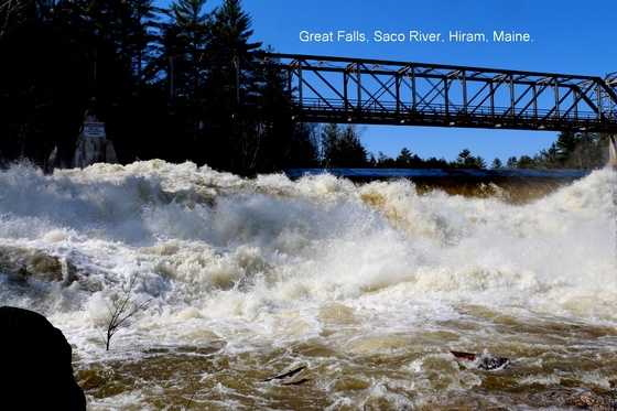 Great Falls on the Saco River in Hiram