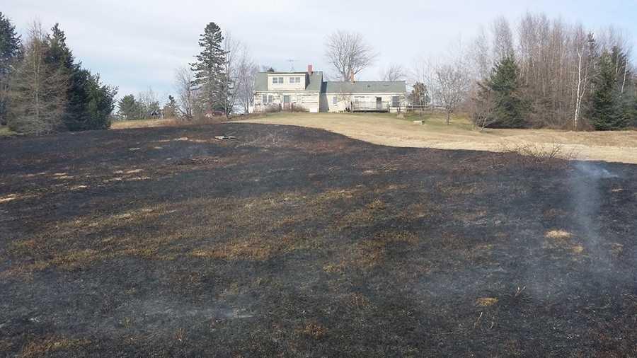Milbridge Brush Fire