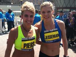 Sherri Piers and Erica Jesseman are the top women finishers from Maine