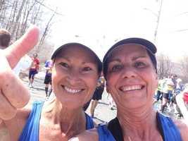 Boston Marathon at mile 9