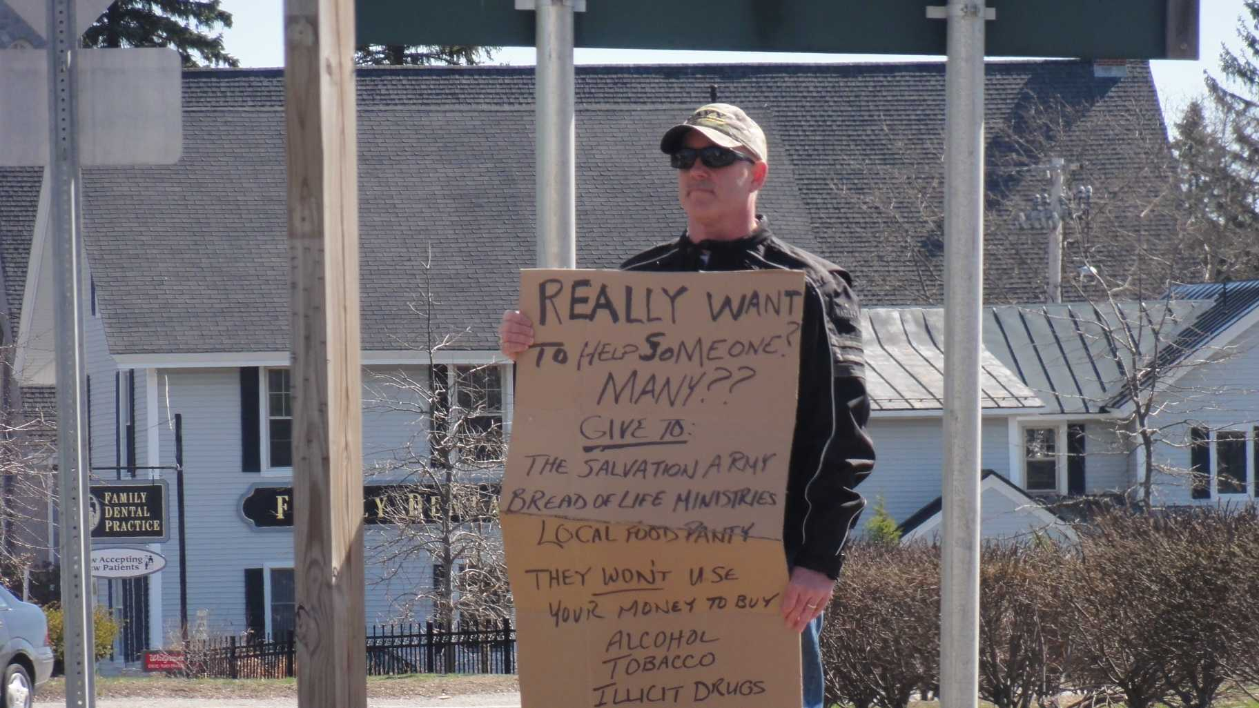 Police Chief Panhandling Sign