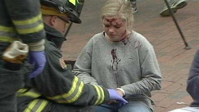 Portland High Students Against Destructive Decisions put on the mock accident.