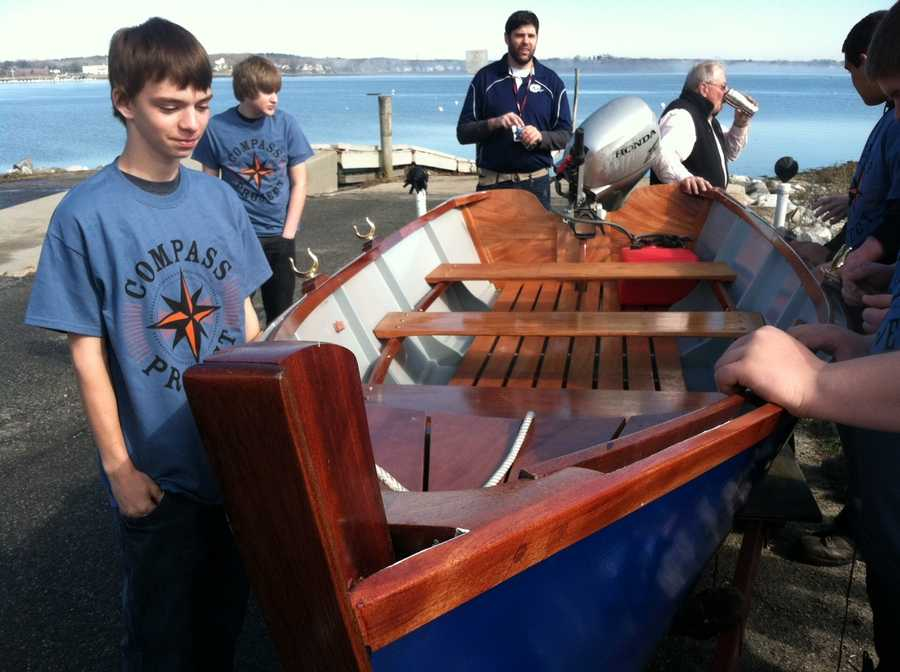 Students from Gorham High School who are part of the Compass Project launched a skiff they built from scratch. Click through to see pictures of the Nez Perce