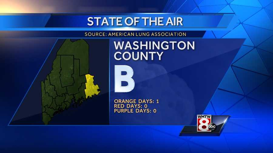 """Washington County received a """"B"""" grade with 1 orange day, no red days and no purple days"""