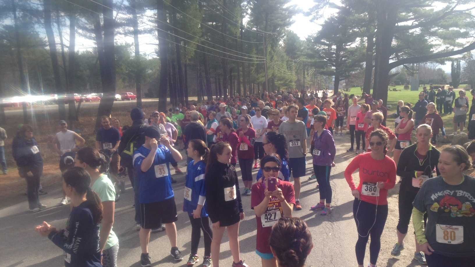 Runners prepare to take part in the inaugural St. Mary's Commit to Get Fit Challenge