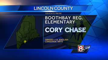 Cory Chase teaches English Language Arts to grades 7-8 at Boothbay Regional Elementary.