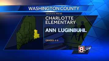 Ann Luginbuhl teaches grades 6-8 at Charlotte Elementary in Charlotte