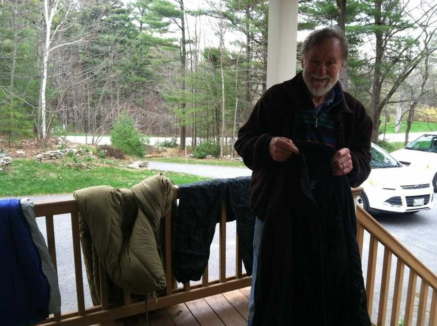 David Humphrey, 75, of Falmouth was rescued after spending the night on a New Hampshire mountain.