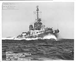 The USS Barton was delivered to the Navy on Dec. 30, 1943