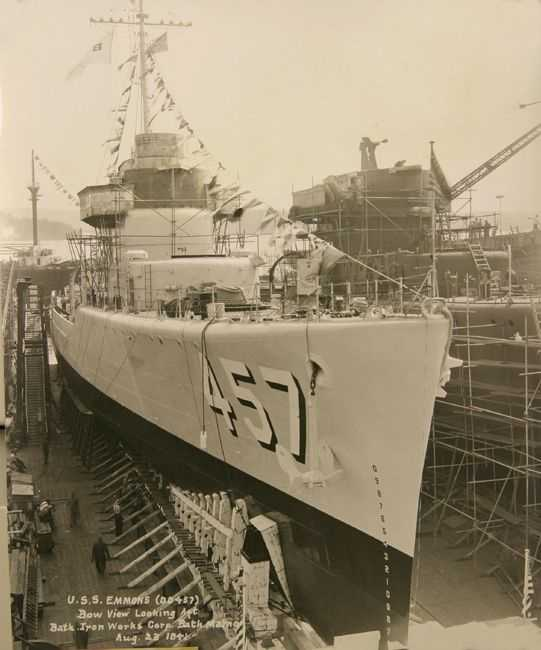 The USS Emmons was built in 1941 and guarded minesweepers pre-invasion and providing heavy land bombardment in support on D-Day.